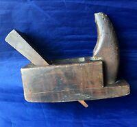 Antique LaChappelle Primitive Woodworking Carpenters Plane Wooden Hand Tool
