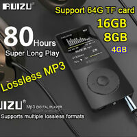 16GB 8G 4G RUIZU X02 Sport Mini Lossless HIFI MP3 Music Player With FM Radio GR