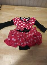 Disney Authentic Minnie Mouse Baby Girl Tutu Body Suit 6 mos red/black