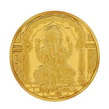 RSBL eCoins Ganeshji 10 gm Gold Coin 24kt purity 995 Fineness- WITH TAX INVOICE
