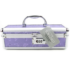 Lockable Vibrator Storage Case Medium Purple The Toy Chest Private Combination