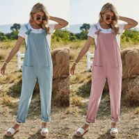 Women's Sexy Party Casual Overalls Slim Straight Rompers High Waist Jumpsuit