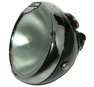 "Lucas Head Light Lamp 8"" Flat Glass Miller BSA Norton Triumph Vincent With Panel"