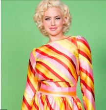 Pinup Girl Clothing Traffic People Candy Stripe Vintage Peephole Top Size M