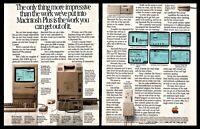 1986 APPLE MACINTISH PLUS Personal Computer Vintage 2-page AD