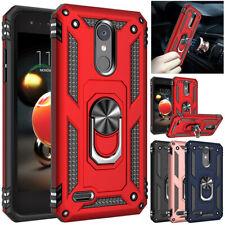 LG Rebel 4 LTE /LG Zone 4 Finger Magnetic Ring Cover Shockproof Armor Stand Case