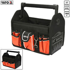 Werkzeugtasche Werkzeugkoffer 17 Fächer Elektriker Werkzeug Tasche Gummiboden