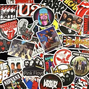 50 Rock Stickers Metal Punk Bands Guitar Amp Music Decal Stickerbomb Skateboard