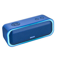 DOSS SoundBox Pro Portable Bluetooth Speakers with Wireless Stereo Pairing Blue