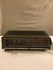 Vtg Ge General Electric Alarm Flip Clock Am Fm Radio For Parts Works