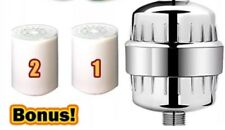 Geysa High Output Shower filter with 2 8-stage filter replacement cartridges