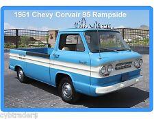1961 Chevrolet Corvair 95 Rampside Blue & White  Refrigerator / Tool Box  Magnet