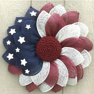 Patriotic Independence Wreath For Front Door Fourth July Decor Day 11 Color