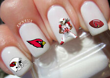 Arizona Cardinals Nail Art Stickers Transfers Decals Set of 36