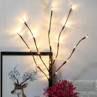 Battery Operated Branch LED Fairy Lights Home Vase X'mas Wedding Party Decor