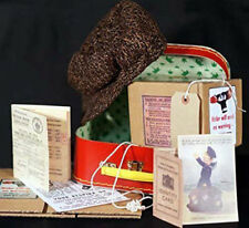 1940's Wartime Memorabilia-BOYS Cap-Gas Mask Box-Suitcase-Ration Book-ID Card