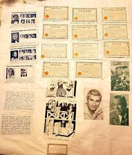 Lot 24 Vintage 30s 40s Arcade Carnival Fortune Movie Star Cards License Postcard
