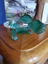 Swarovski crystal figurines, Green Chinese Fighting Fish