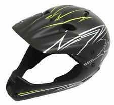 Savage Youth Full Face Helmet BMX Downhill Dirt Jump Bike Size 54-58cm in Black