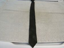 Vtg. Wembley Black Thin Neck Tie