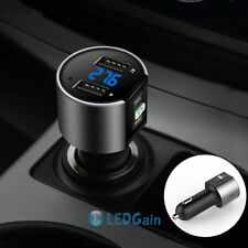 Wireless Bluetooth Car Kit Handsfree FM Transmitter MP3 Player Dual USB Charger