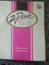 LOT OF 2 PAIRS OFF BLACK SIZE B (MEDIUM) PANTYHOSE MADE IN USA - PRIVATE AUCTION