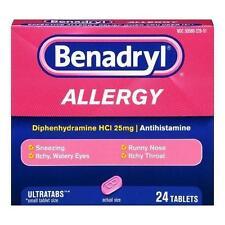 Benadryl Allergy Ultratab Tablets 24 Tablets Each