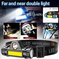 Super Bright LED Headlamp Rechargeable Headlight Flashlight Camping Waterproof