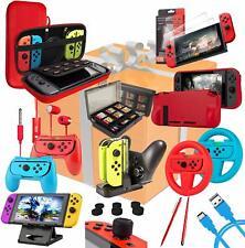Nintendo Switch Accessories Bundle - Ultimate Geek Pack in Black or Colourpop