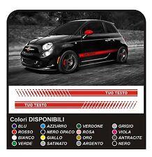 ADESIVI LATERALI FIANCATE per Fiat 500 695 ABARTH stickers decals side lato