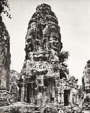 1934 Vintage 11x14 CAMBODIA Angkor Thom Temple Gate Architecture Art ~ HURLIMANN