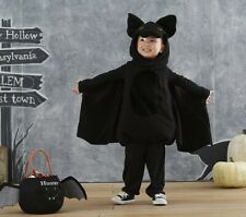 pottery barn kids bat costume sz 7-8 cape & costume & hood total black New