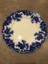 ANTIQUE FLOW BLUE ENGLISH PLATE Osborne PATTERN W.H.GRINDLEY 1891-1914