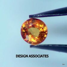 ORANGE SAPPHIRE 3 MM ROUND CUT ALL NATURAL AAA