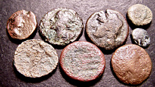 New Listing8 Ancient Greek Coins Lot, Deities, Athena, Amphora, 7-18mm, ca 4th-2nd Bc