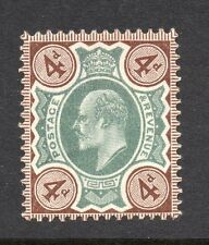KEDVII 1902-10 sg 236   4d green & chocolae brown MM with gum.