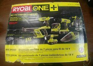 Ryobi 18v ONE+ Lithium-Ion Cordless Super Combo Kit 7-Piece Drill/Driver Saws