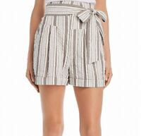La Vie Women's Casual Shorts Beige Size Small S Tie Waist Cotton $225 #381
