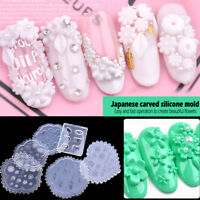 3D Acrylic Sculpture Mold Silicone Nail Art Flower Template Manicure Easy Tool