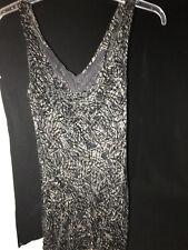 E C I New York Black & Brown Sleeveless Cocktail Dress Size 4 Small