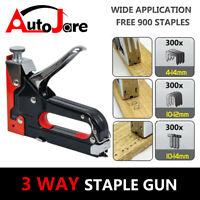 Heavy Duty Manual Nail Staple Gun Kit Upholstery Tool Work Stapler tacker