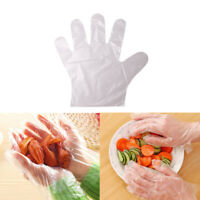 100Pcs Plastic Clear Disposable Gloves Food Hygiene Cleaning Catering Beauty