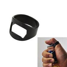 Finger Ring Bottle Opener Black Stainless Steel Novelty Bar Tool Waiter Beer 1pc