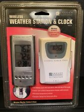 New Oregon Scientific Wireless Weather Station & Clock Temperature Sealed *READ*