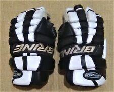 """Brine Ventilator Pro Lacrosse Gloves - Black/White - 13"""" - Used"""