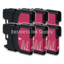 6 MAGENTA New LC61 Ink Cartridge for Brother MFC-495CW MFC-J410W MFC-295CN LC61M