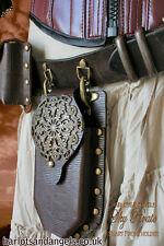Steampunk Smartphone holder leather work pattern