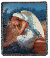Serenity's Garden Angel Tapestry Afghan Throw