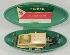 Singer Buttonholer Green Case Featherweight 4 Templates Vintage Sewing