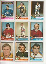 Lot of 10 Different 1974-75 OPC O-Pee-Chee Cards **U-Pick** Complete Your Set